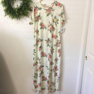 Lularoe Maria Off White Floral XL Dress